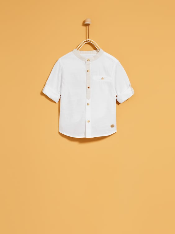 Shirt With Contrasting Trims  Shirtsbaby Boy by Zara
