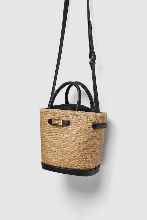 Two  Tone Tote Bagnew In Woman by Zara