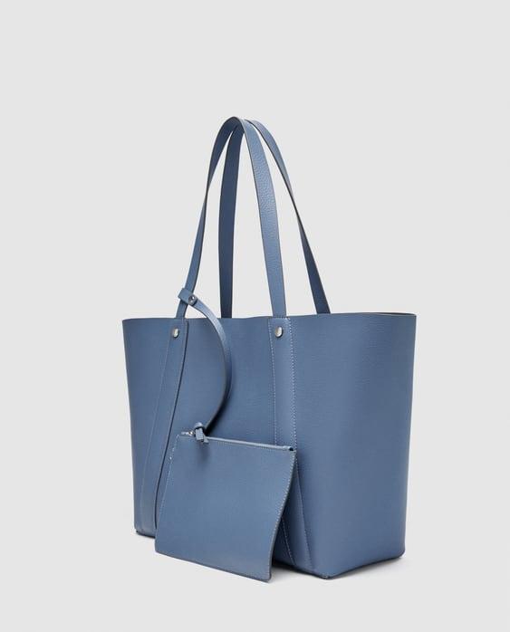 Reversible Tote Bag Large Handbags By Zara