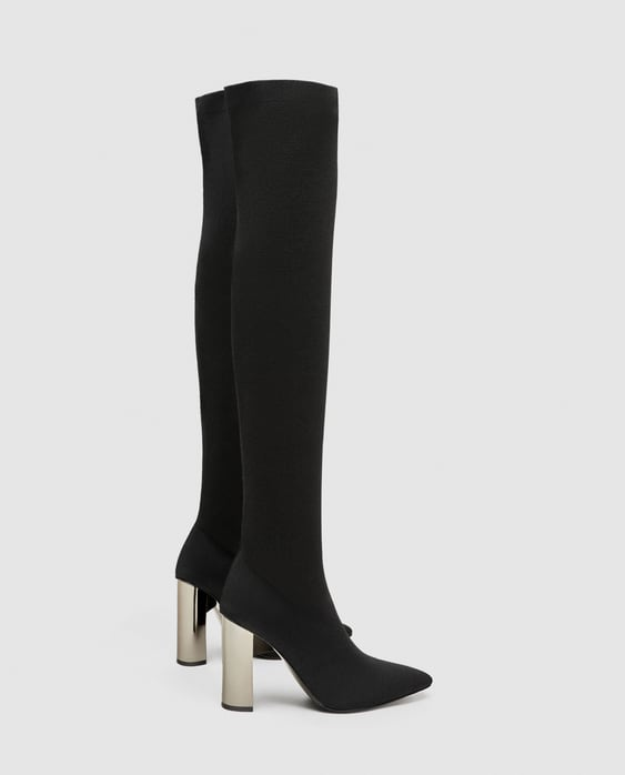 Image 2 of TALL ELASTIC HIGH HEEL BOOTS from Zara