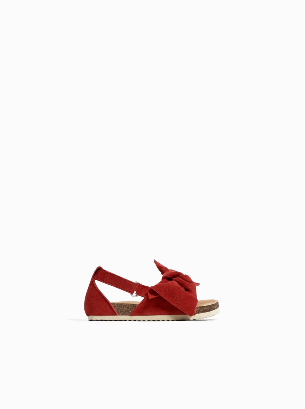 Image 1 of LEATHER SANDALS WITH BOW DETAIL from Zara
