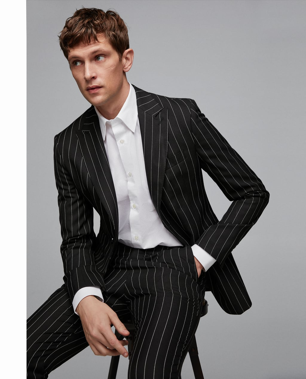 Image 2 of PINSTRIPED SUIT from Zara