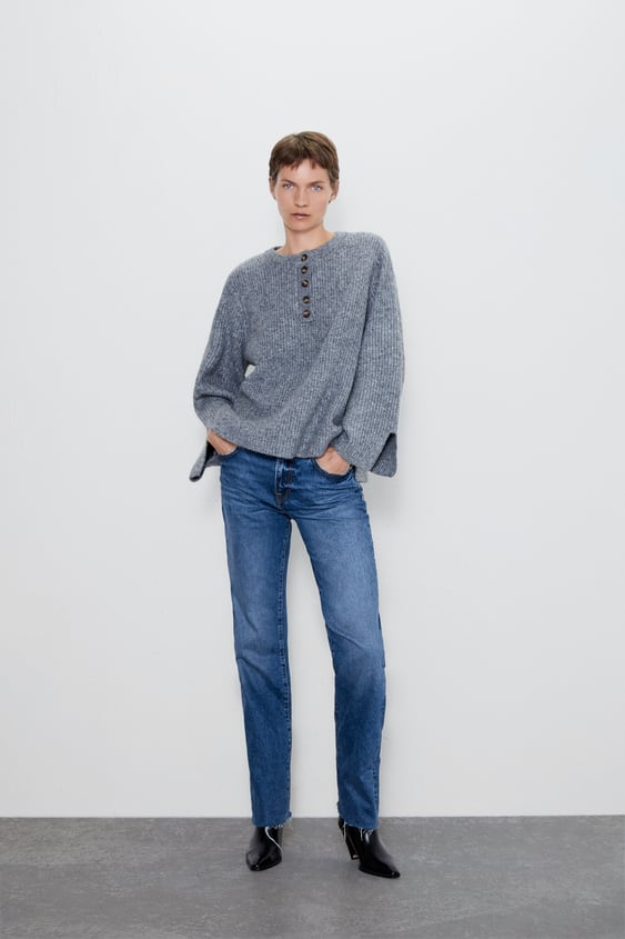 Knit Sweater With Buttons  View All Knitwear Woman by Zara