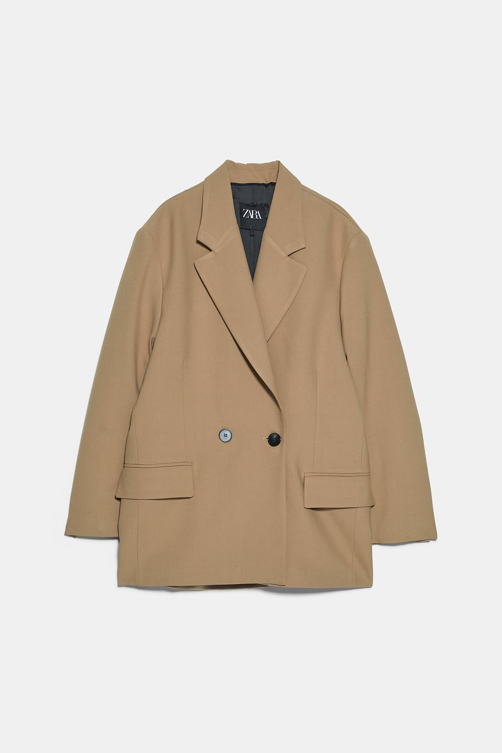 Image 8 of OVERSIZED DOUBLE-BREASTED BLAZER from Zara