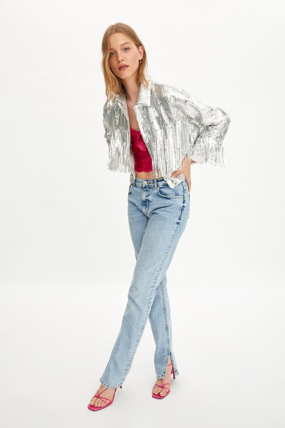 c90d0f84fe LIMITED EDITION FRINGED SEQUIN JACKET
