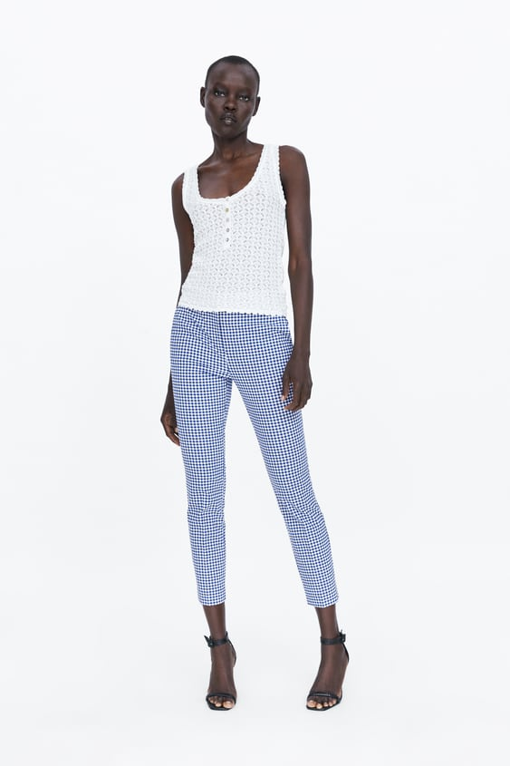 6d6f9b3ebd6ba6 GINGHAM JOGGER WAIST TROUSERS - Available in more colours