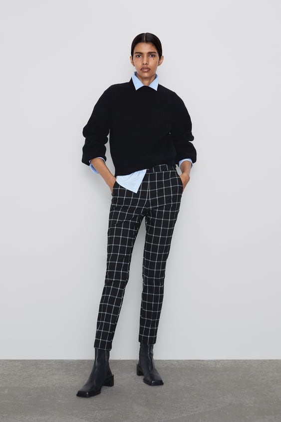 Checkered Jogging Pants View All Pants Woman by Zara