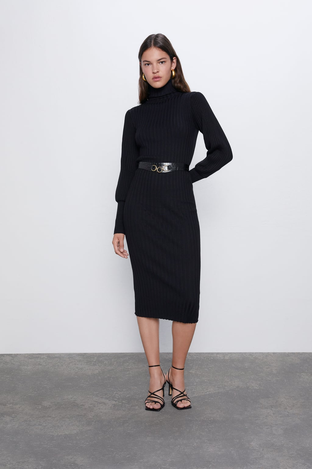 Image 1 of RIBBED MIDI DRESS from Zara - nothing to wear solution