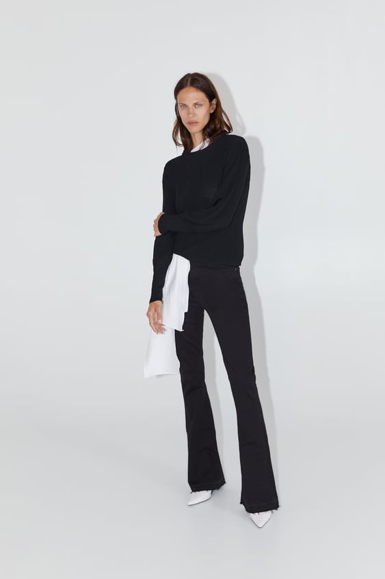4713fbe30d Flared Black Jeans Zara - The Best Style Jeans