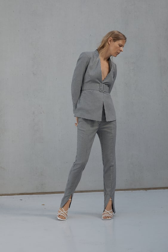 Houndstooth Trousers  New Inwoman by Zara