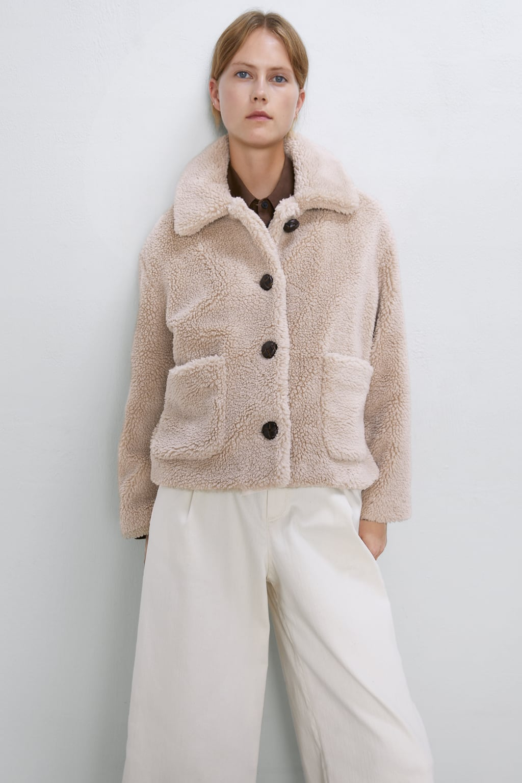Image 2 of CROPPED FAUX SHEARLING COAT from Zadar