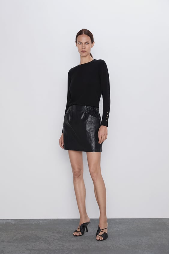 c958ee70 FAUX LEATHER MINI SKIRT WITH POCKETS