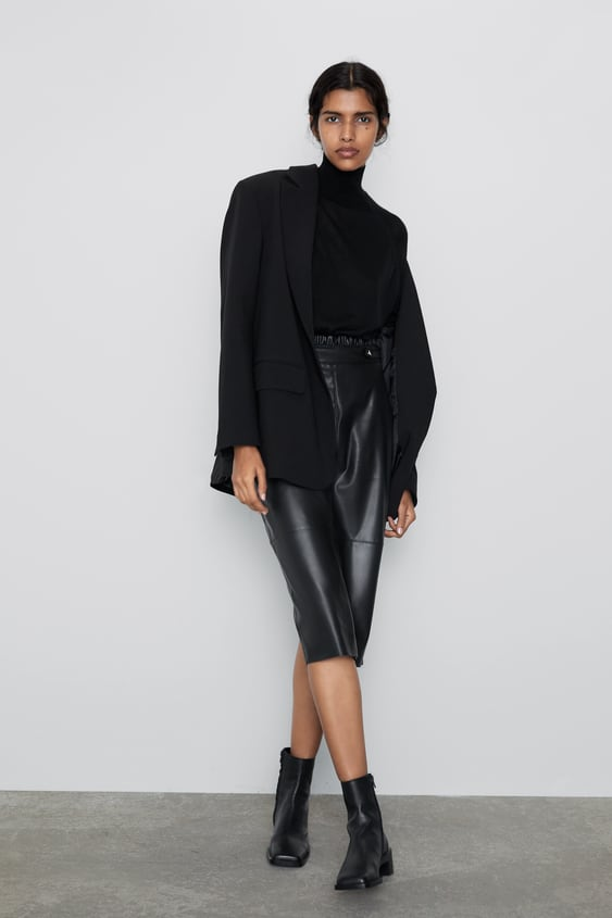Faux Leather Pencil Skirt  Midi Skirts Woman by Zara