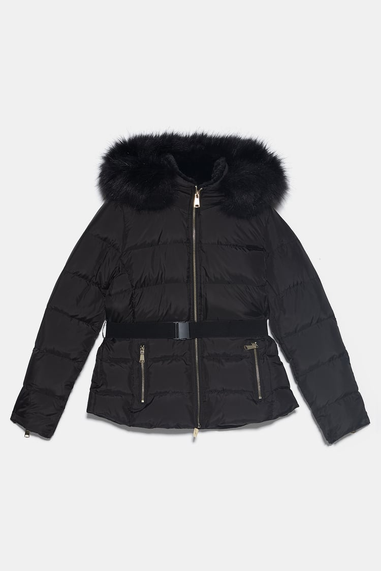 Image 11 of BELTED PUFFER JACKET from Zara