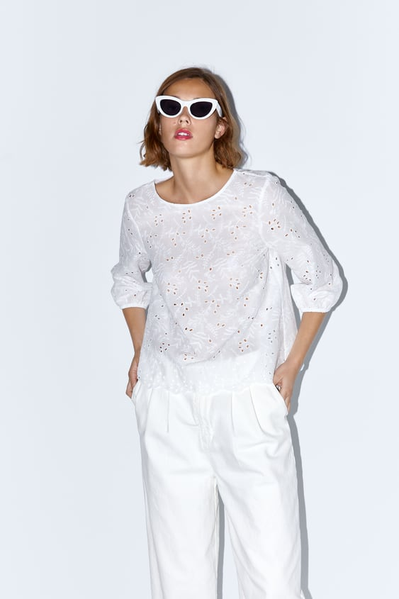 8967188ec1 PRINTED SHIRT. 29.95 EUR. EMBROIDERED TOP