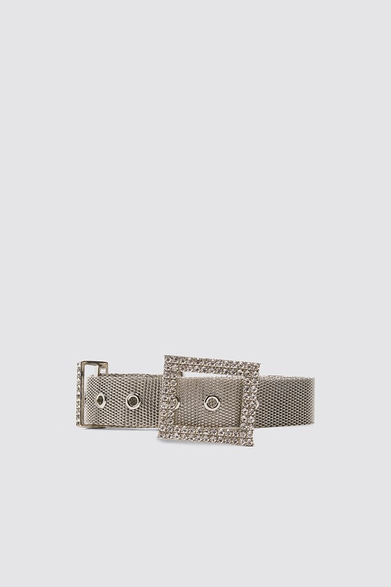 Belt With Bejeweled Buckle View All Accessories Woman by Zara