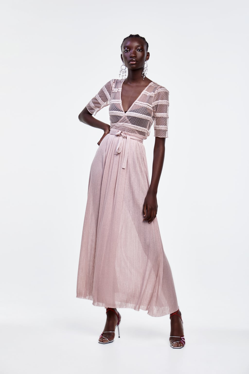 Image 1 of LONG KNIT DRESS from Zara