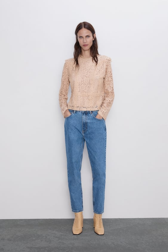 Lace Top View All Shirts by Zara