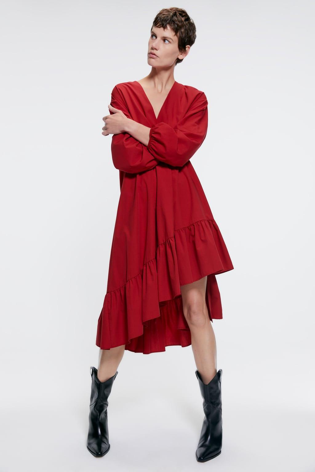 Image 1 of POPLIN MIDI DRESS from Zara