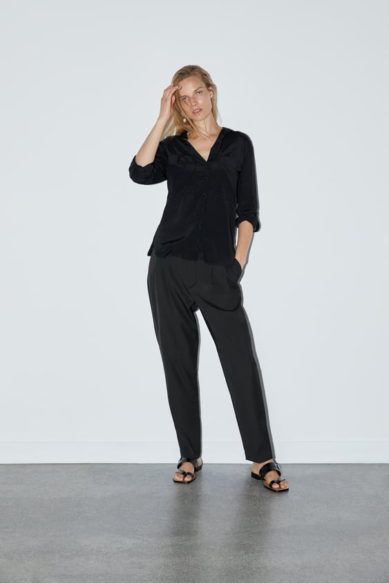 c4913d9f BLOUSE WITH POCKETS - Collection-TIMELESS-WOMAN-CORNER SHOPS | ZARA ...
