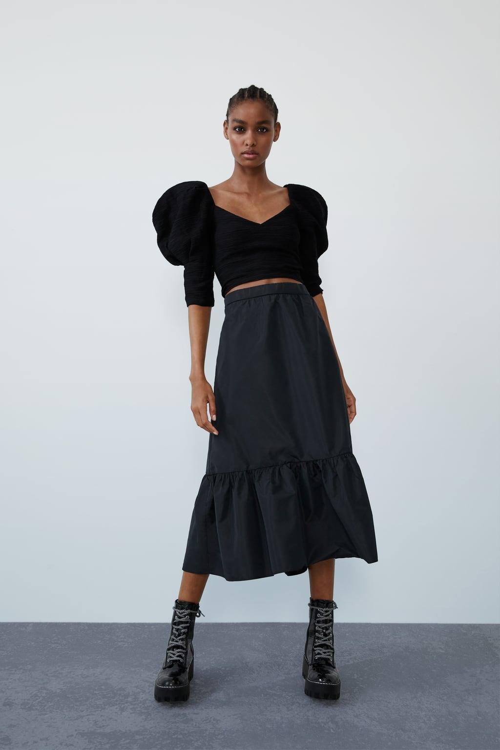 Image 1 of VOLUMINOUS TEXTURED TOP from Zara