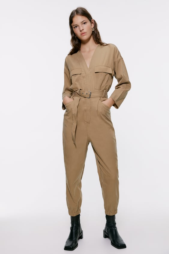 3331729a17 BELTED CARGO JUMPSUIT