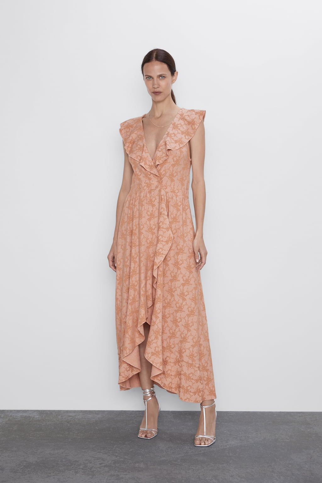 Image 1 of RUFFLED DRESS from Zara