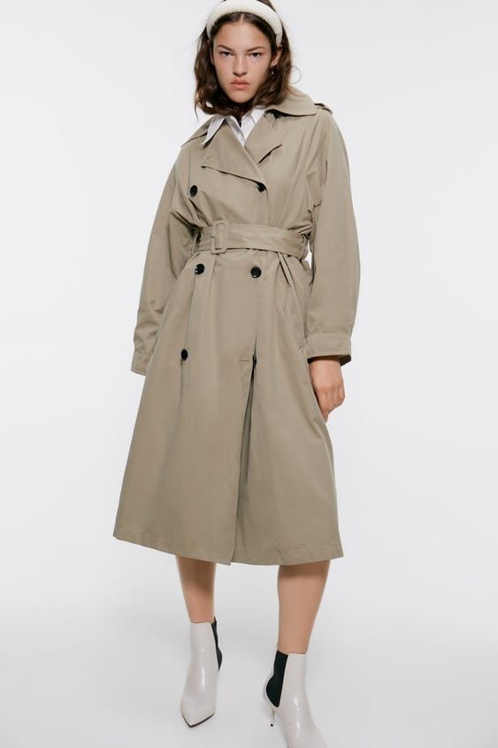 skate shoes crazy price popular style OVERSIZED TRENCH COAT