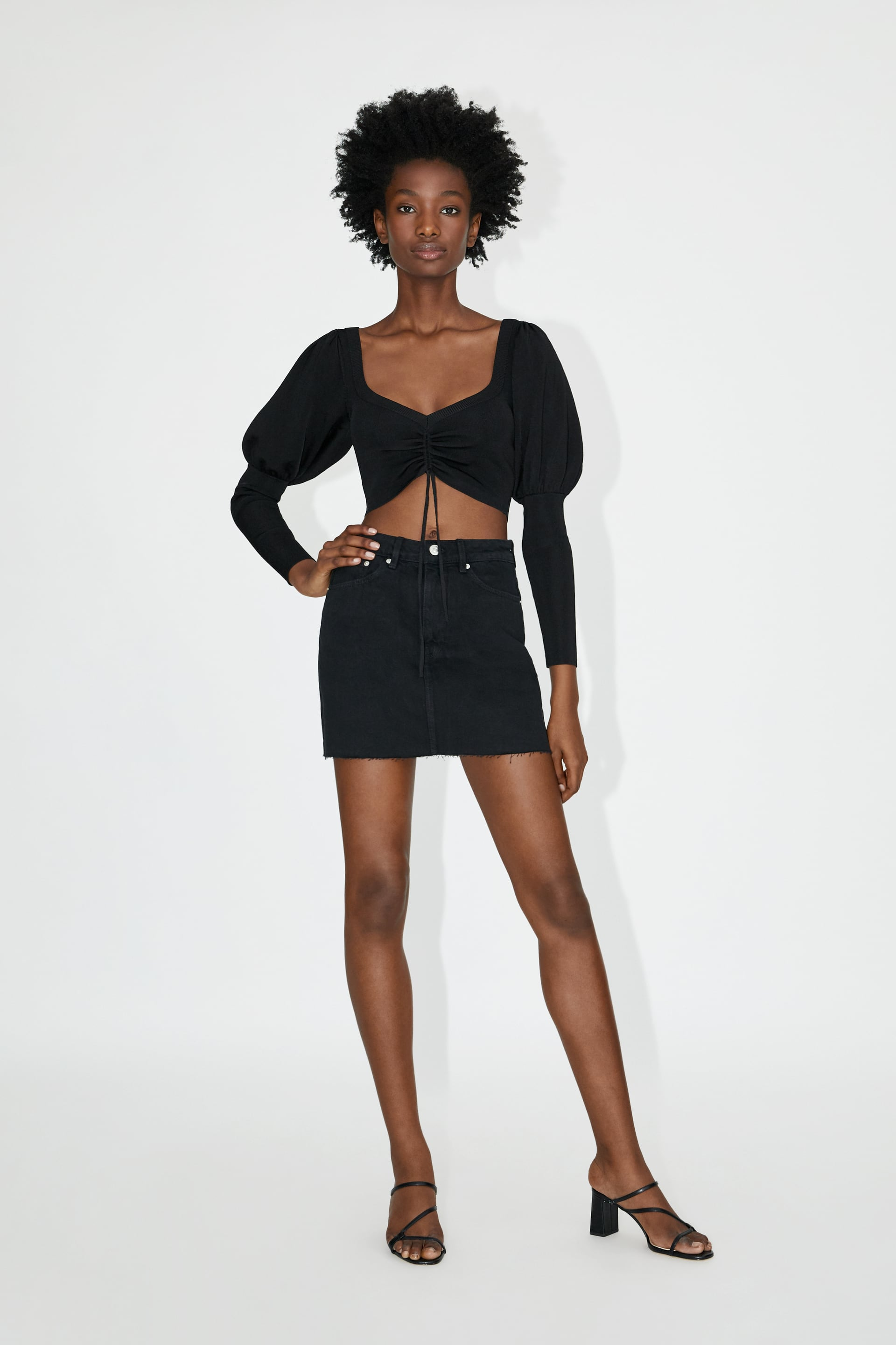 Image 1 of DENIM MINI SKIRT from Zara