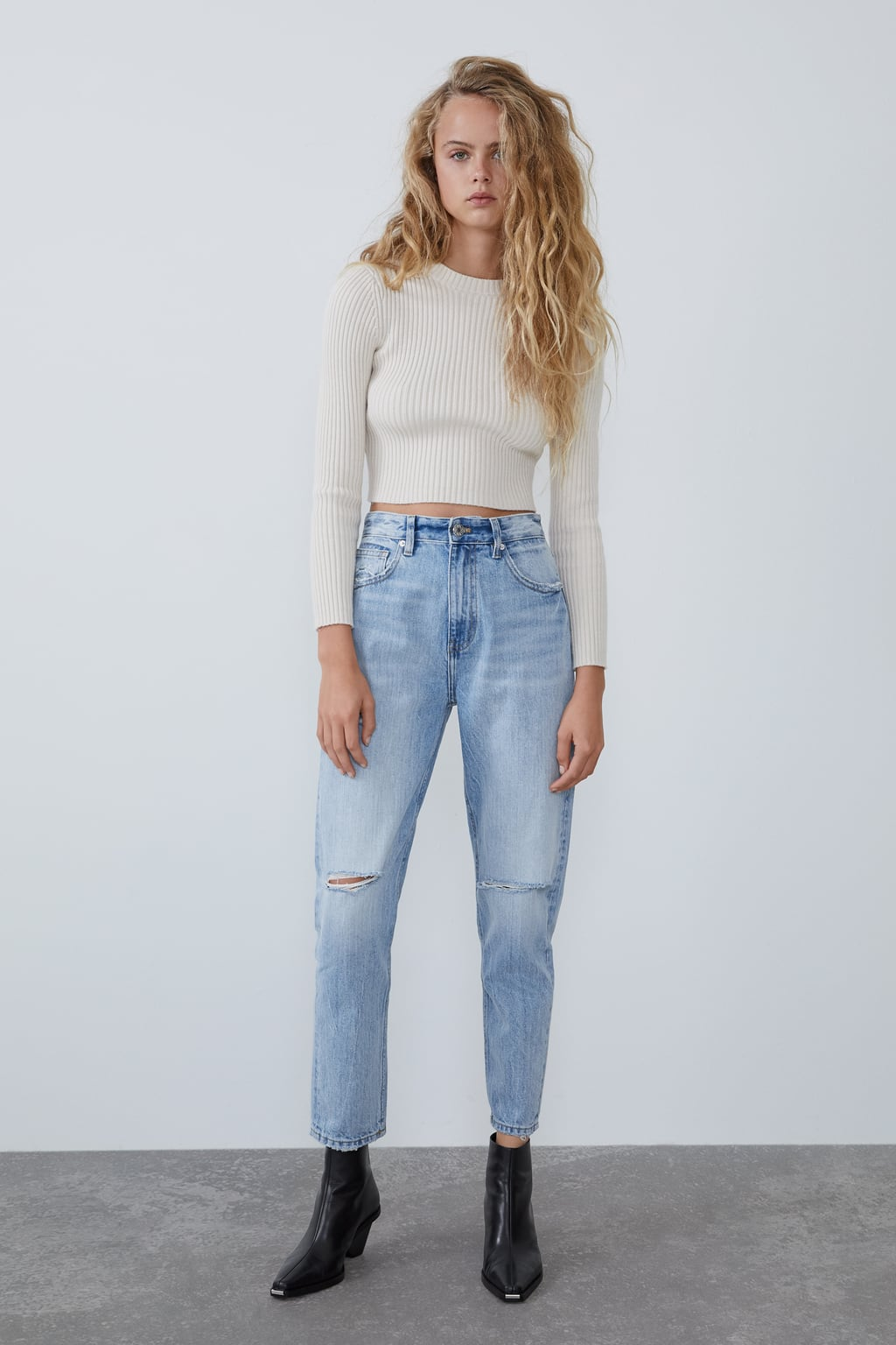 Ripped Mom Fit Jeans by Zara