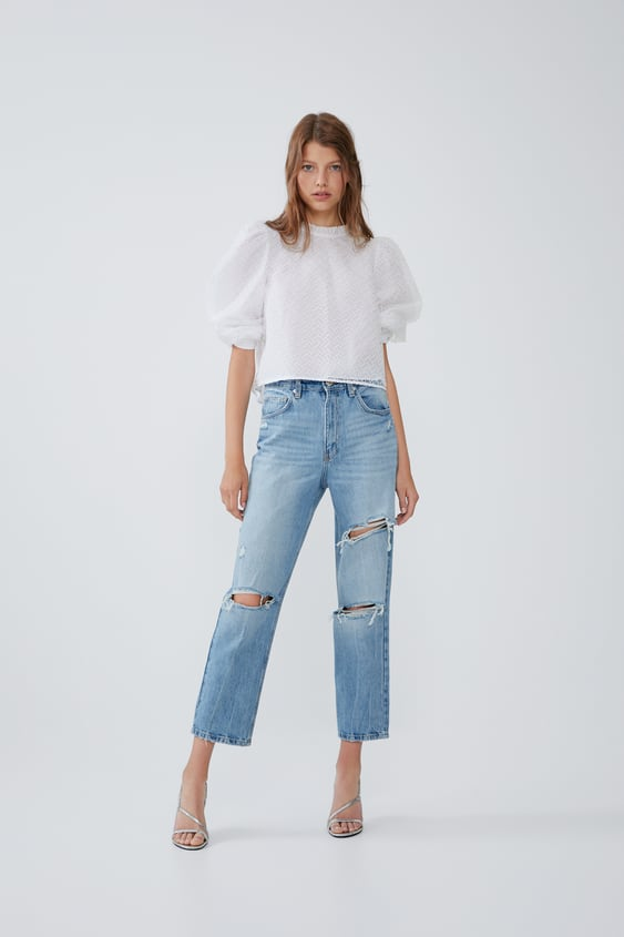 Tapered Ripped Hi  Rise Jeansjoin Life Woman Cornershops by Zara