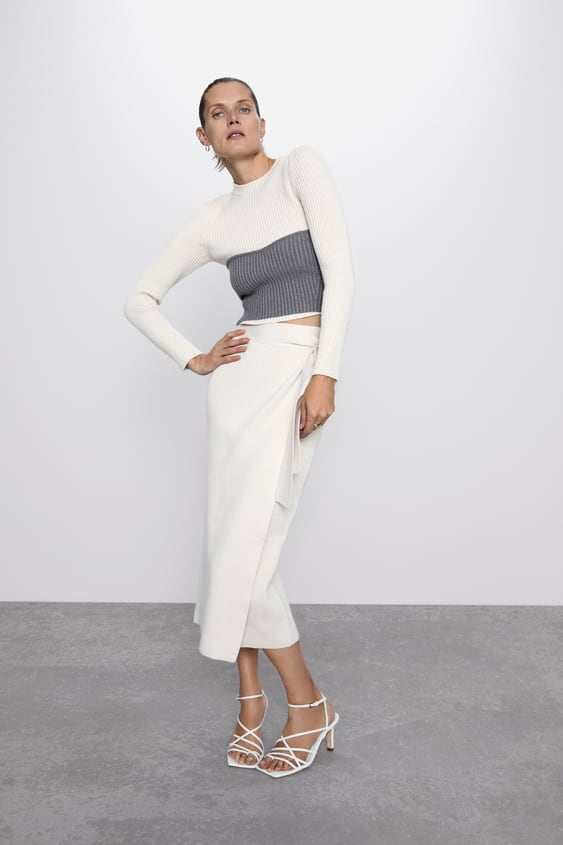 Knit Crop Top  Collection The Minimal Knitwear Woman by Zara