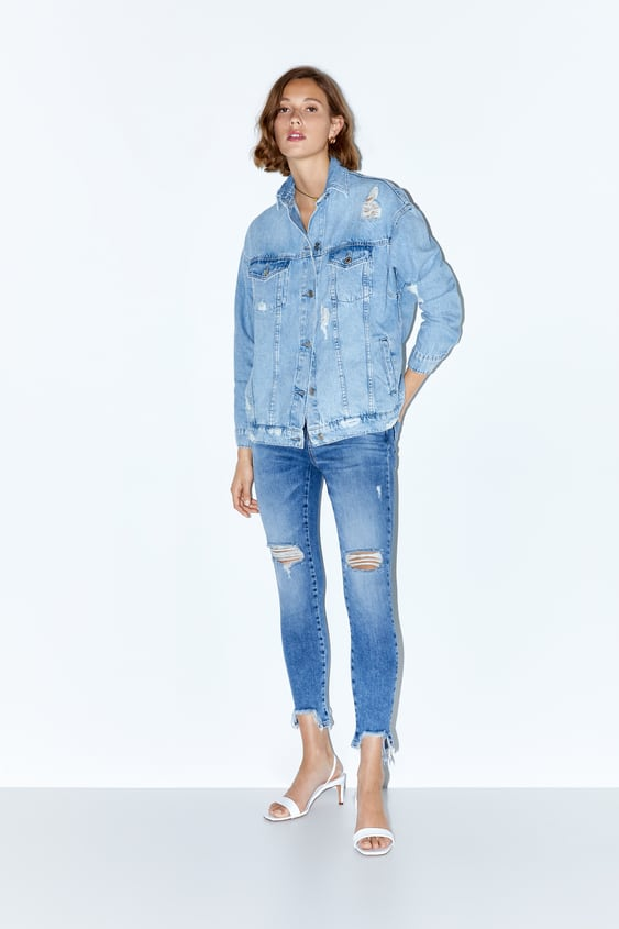 068328ec565 Z1975 MID RISE SKINNY JEANS WITH RIPS