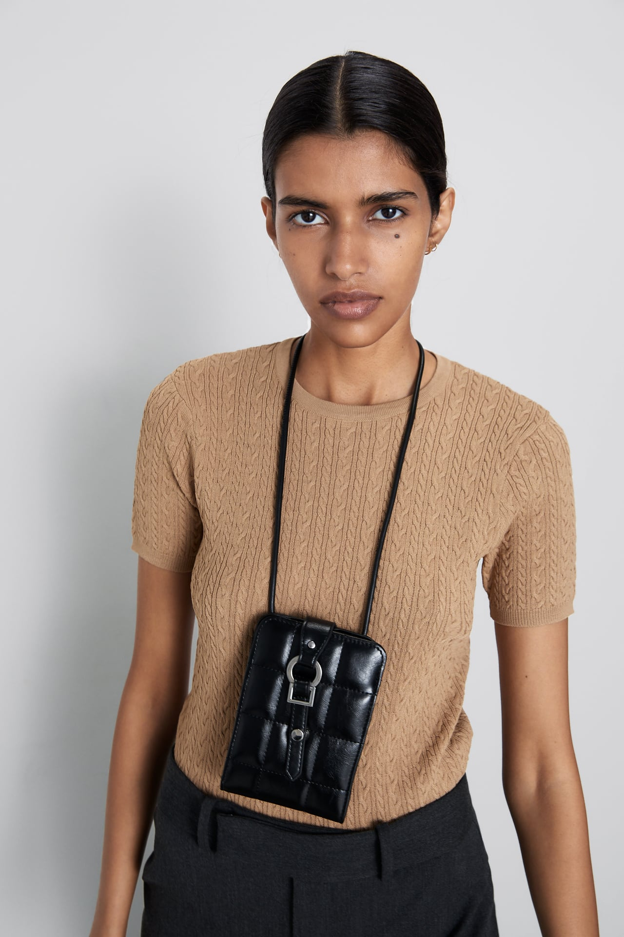 Image 2 of TEXTURED SWEATER WITH PEARL BUTTON DETAIL from Zara