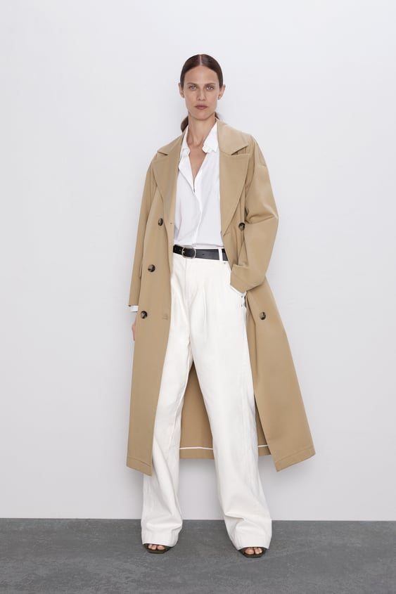 Zw Premium Worker Palazzo Jeans In White  View All Jeans Woman by Zara