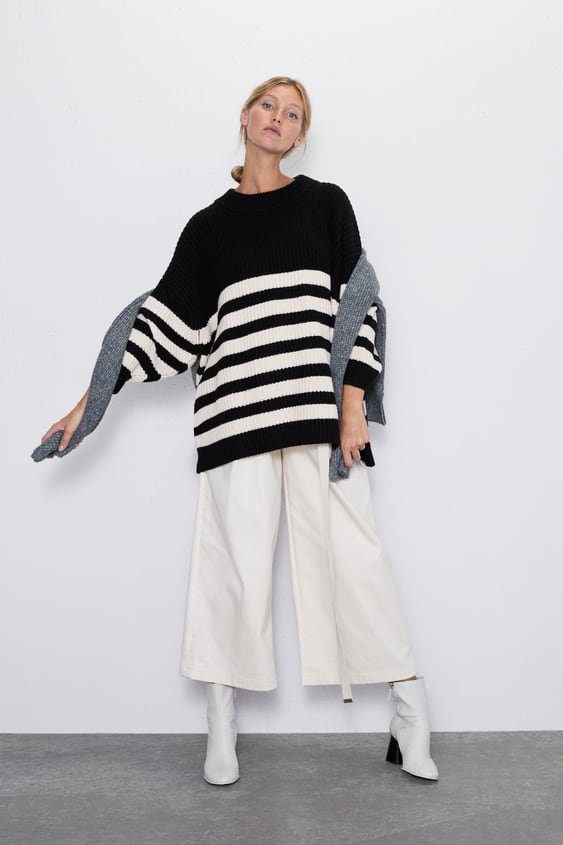 outlet 117a4 27516 OVERSIZED STRIPED SWEATER