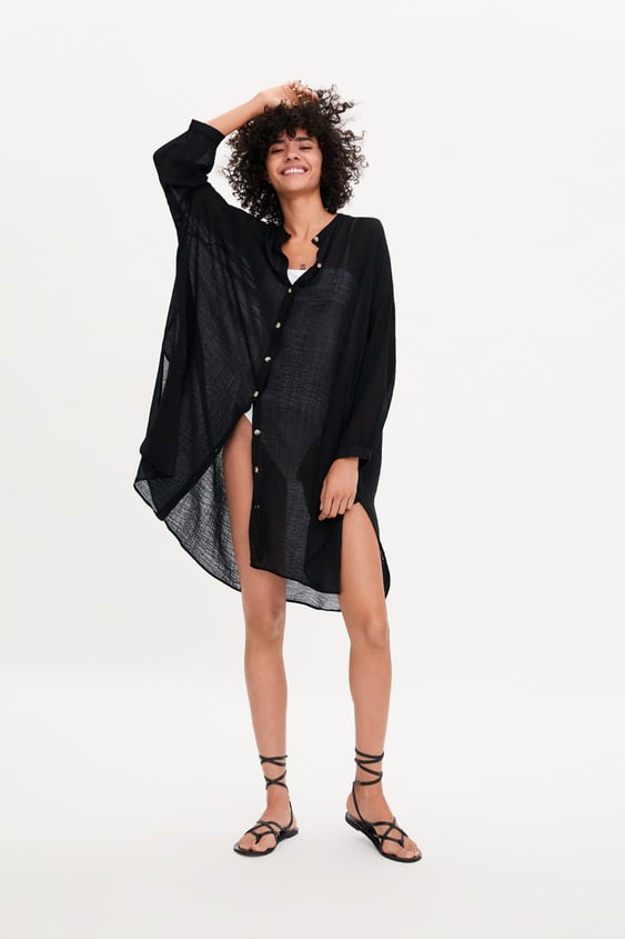 Rustic Oversized Shirt View All Shirts by Zara