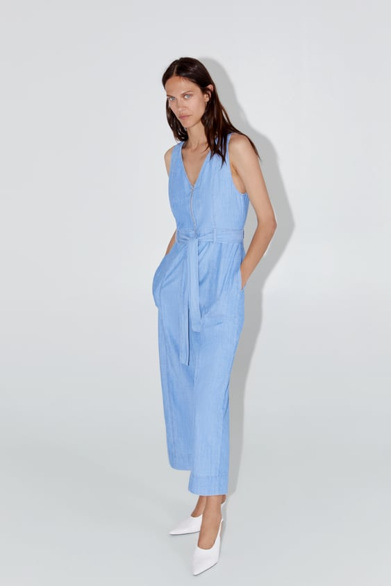 jumpsuit-with-front-zip by zara