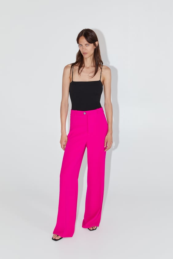 Wide Flowy Pants View All Pants Woman by Zara