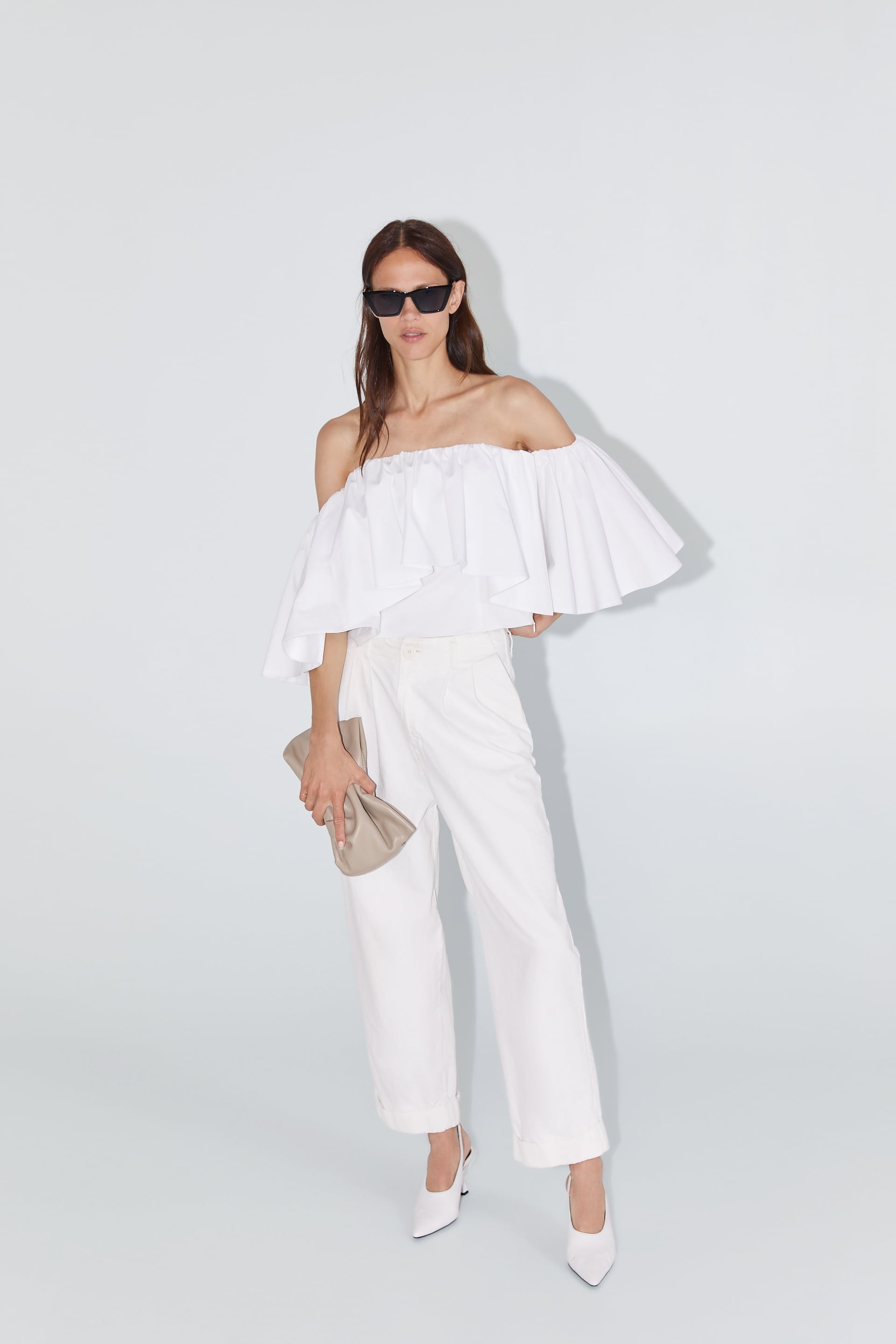 Off Theshoulder Top Tops Woman by Zara