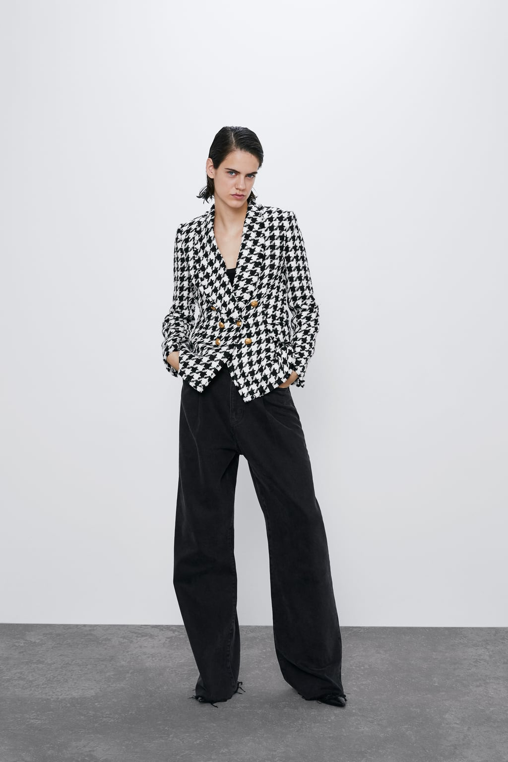 Image 1 of HOUNDSTOOTH JACKET from Zara