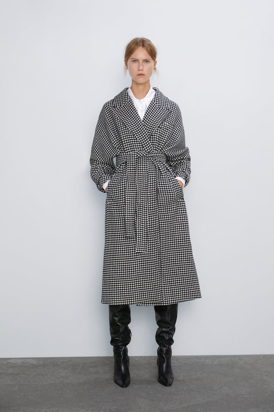 Houndstooth Coat View All Coats Woman by Zara