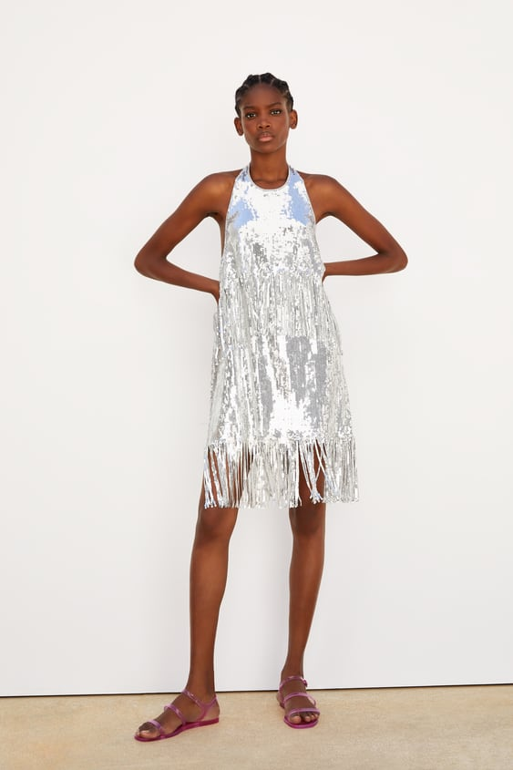 48943c5e LIMITED EDITION FRINGED SEQUIN DRESS - DRESSES-WOMAN-NEW COLLECTION ...