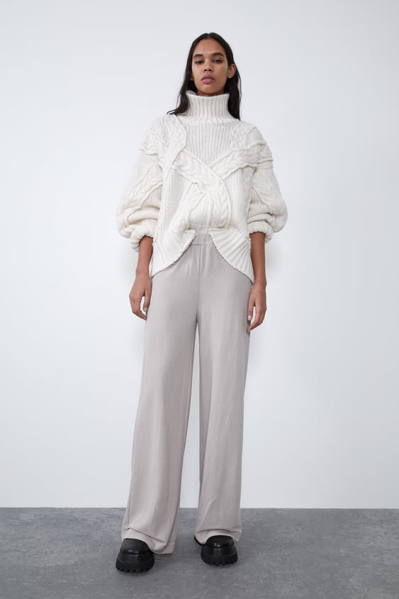 Wide Drapey Trousers  Palazzo Trousers Trf by Zara