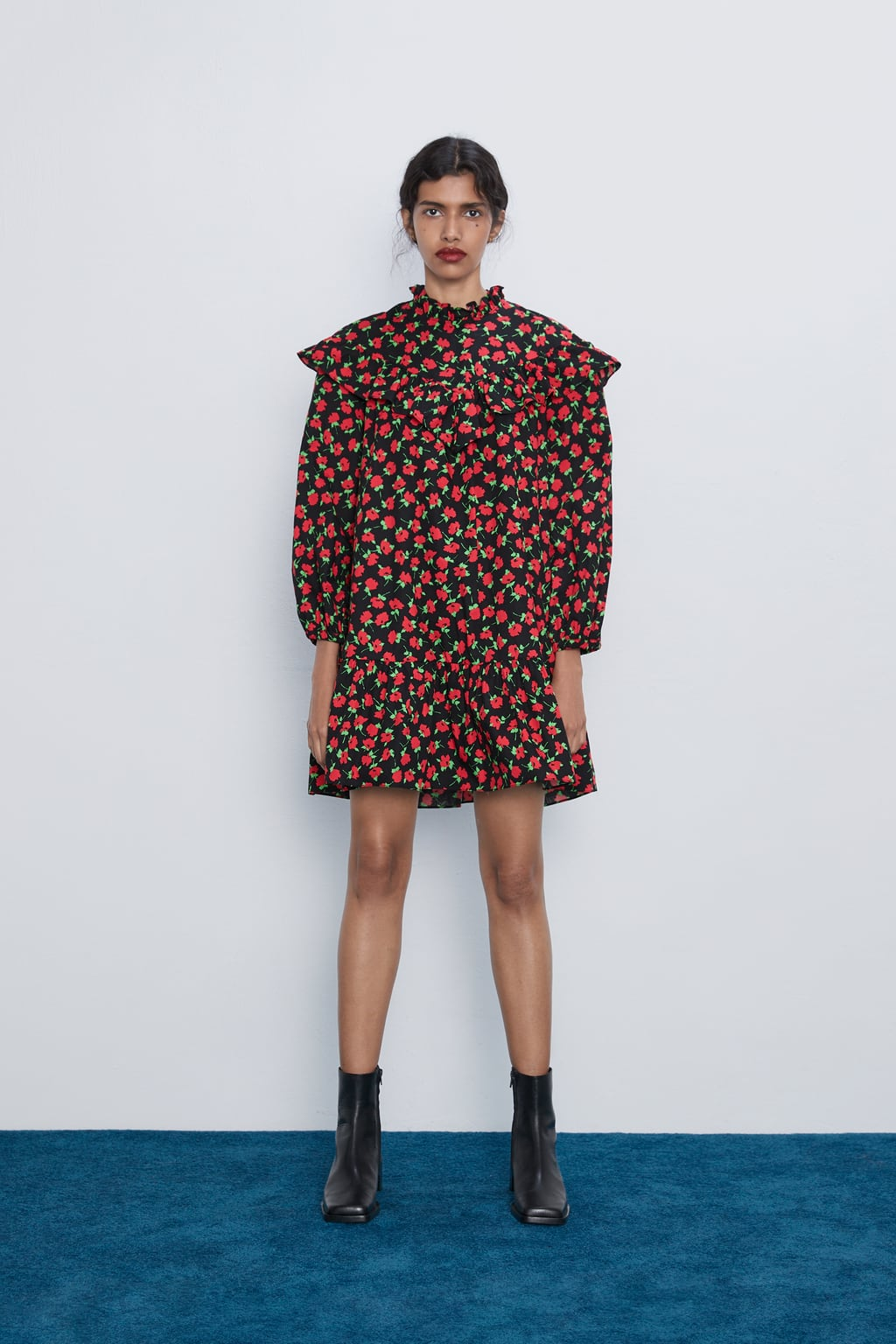Image 1 of MINI DRESS WITH RUFFLES from Zara