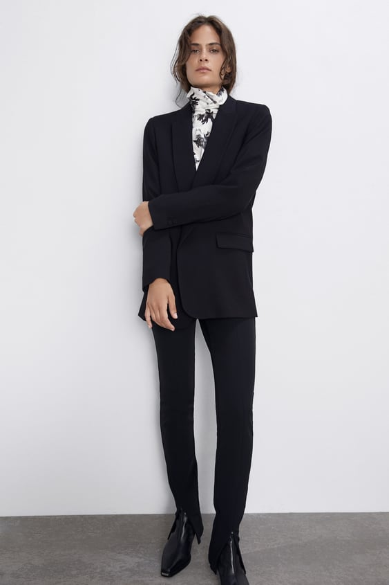 Satin Effect Blazer by Zara