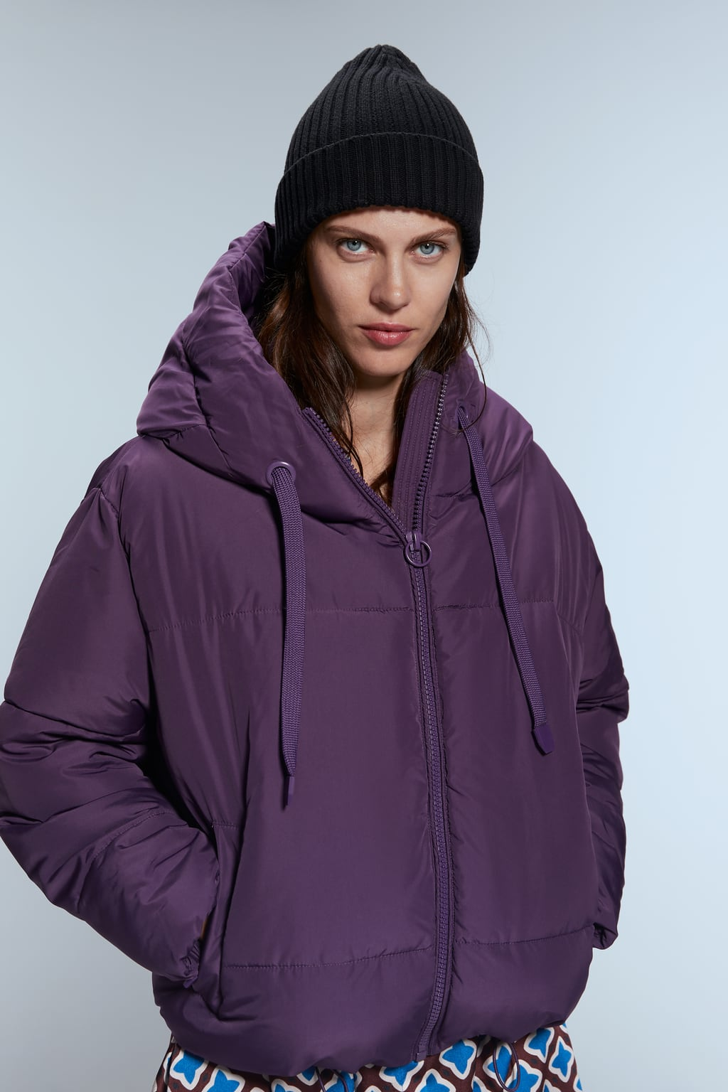 Image 2 of PUFFER JACKET WITH HOOD from Zara