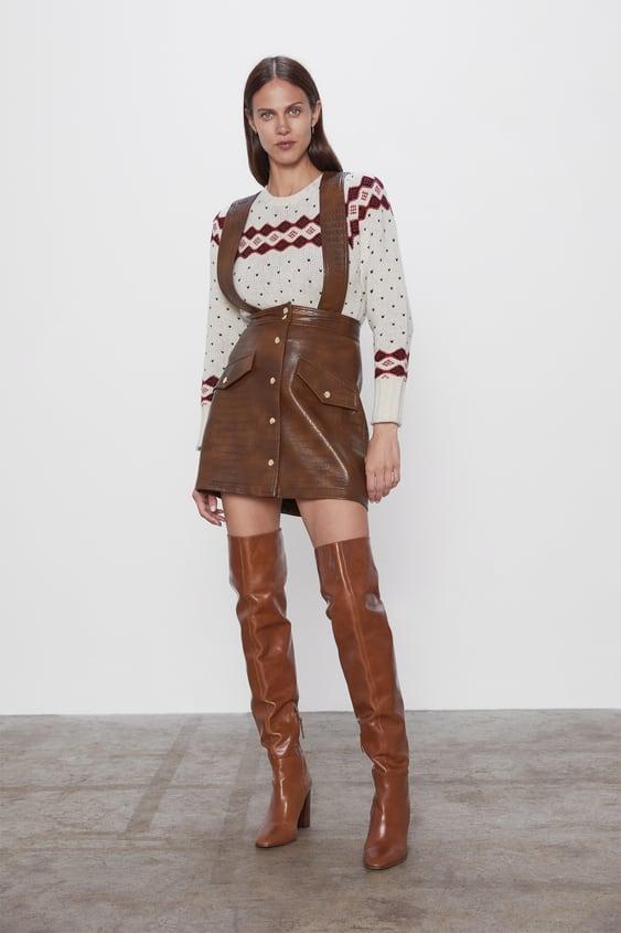 Falda Tirantes Mujer Zara