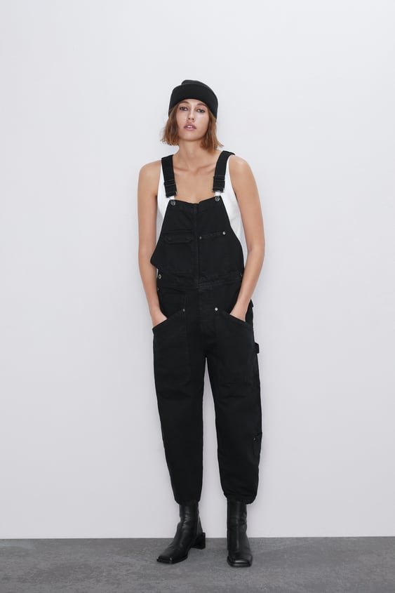 Salopette Denim Zw Premium Worker by Zara