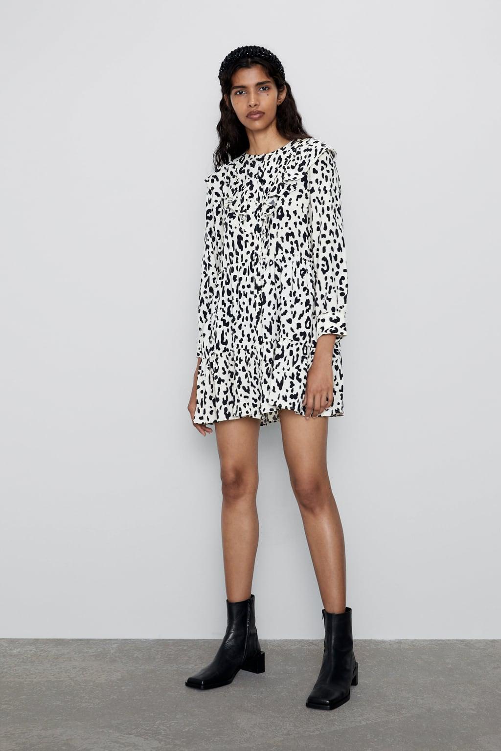 Image 1 of ANIMAL PRINT MINI DRESS from Zara